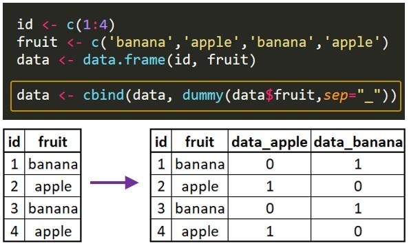 R dummy variable